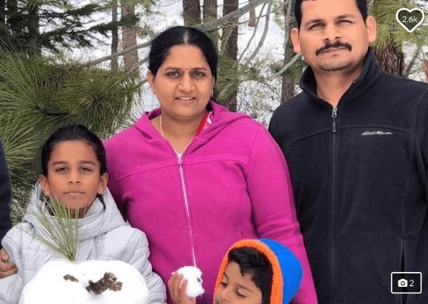 Photo of Subhash Jakkidi and family