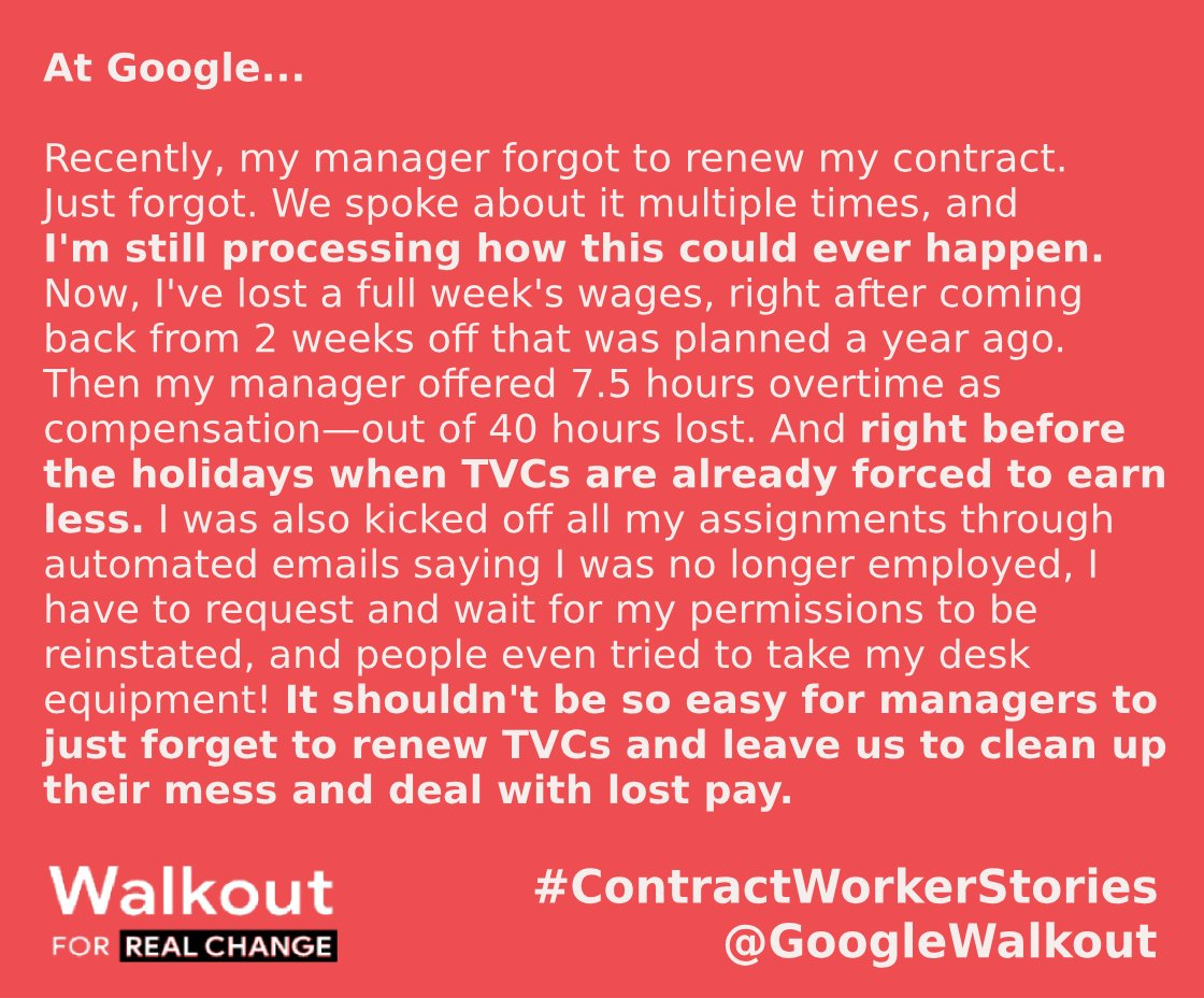 A story from the @GoogleWalkout Twitter account