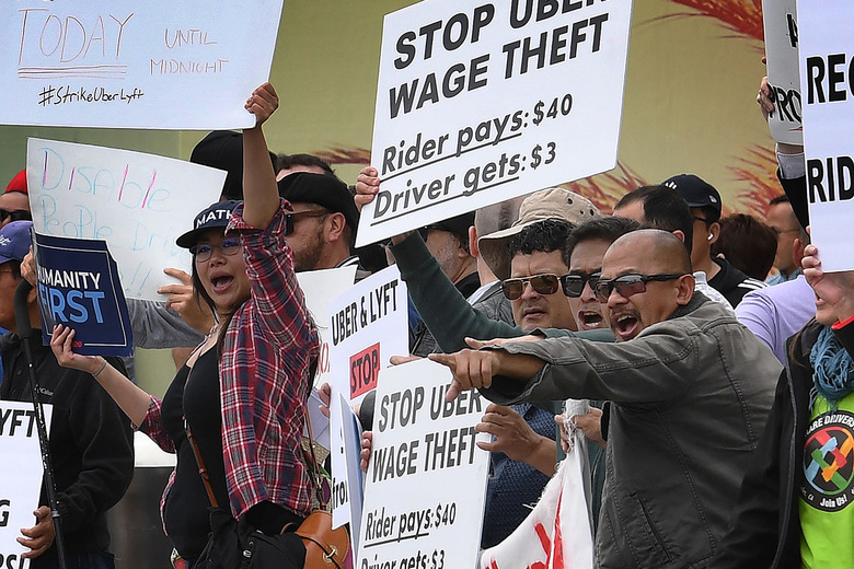Photo from the Uber protest on May 8