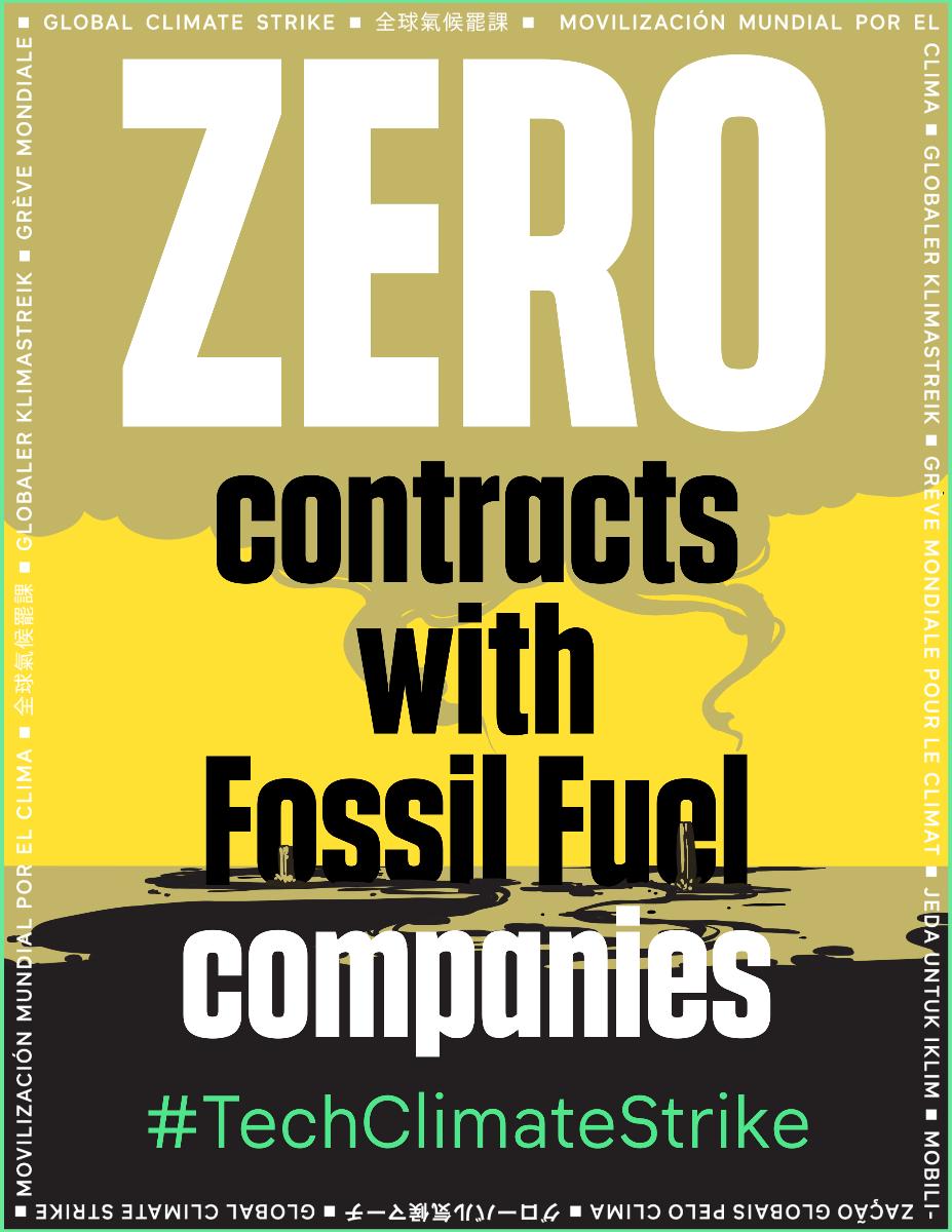 #TechClimateStrike poster