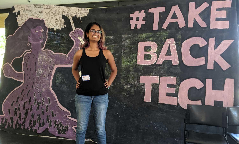 Raksha at the Take Back Tech conference